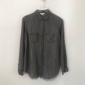 BLL Dark Chambray Long Sleeve Button Down